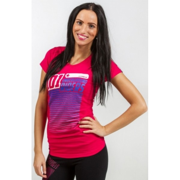 Triko 101 Underground Riders STRIPES TEE red