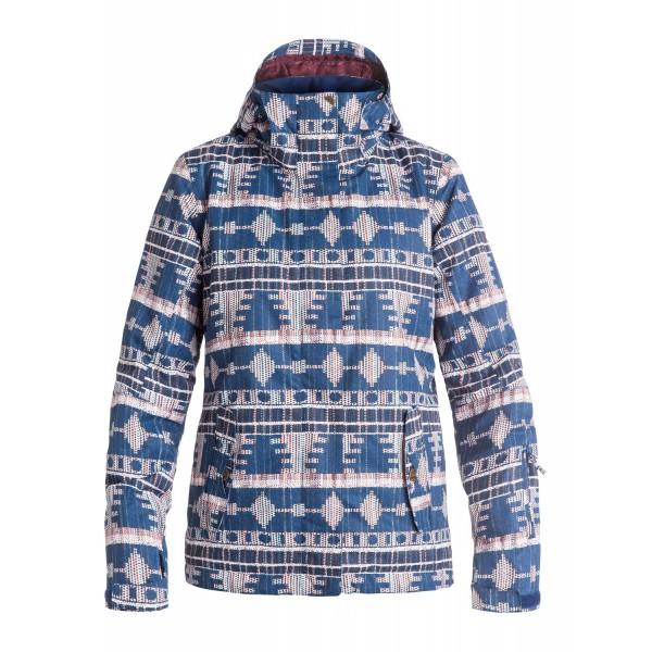 Roxy zimní bunda Jetty Akyia print blue