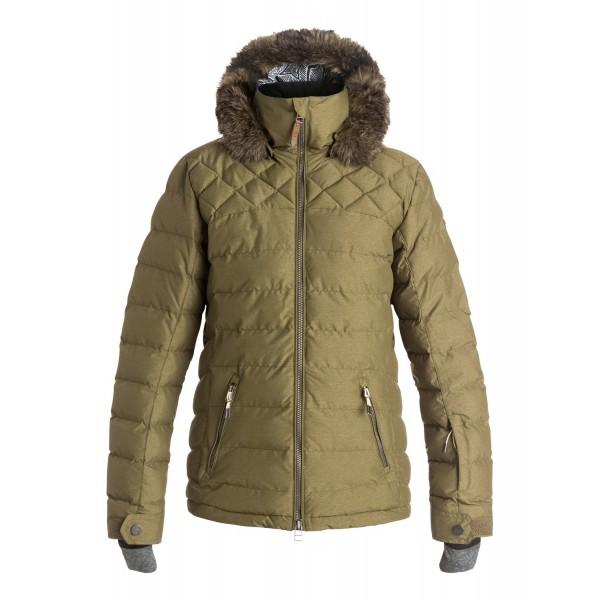 Roxy zimní bunda Quinn Quilted military olive