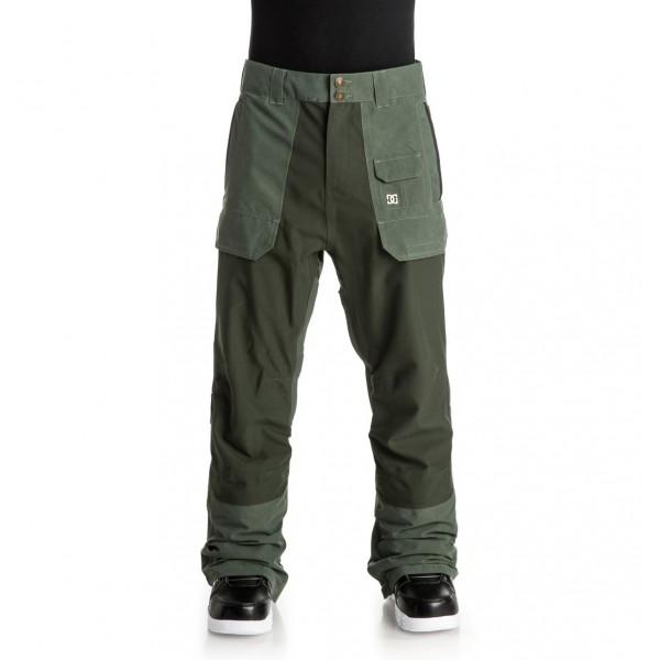 DC snowboardové kalhoty Asylum Combu green