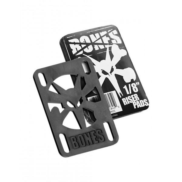 "Podložky Bones Riser Pads 1/8"" black"