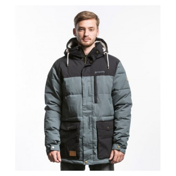 Zimní bunda MeatFly RUSTY JACKET A - GRAY BLACK L