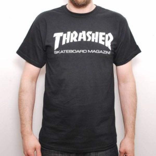 Triko Thrasher Skate Mag crew Black