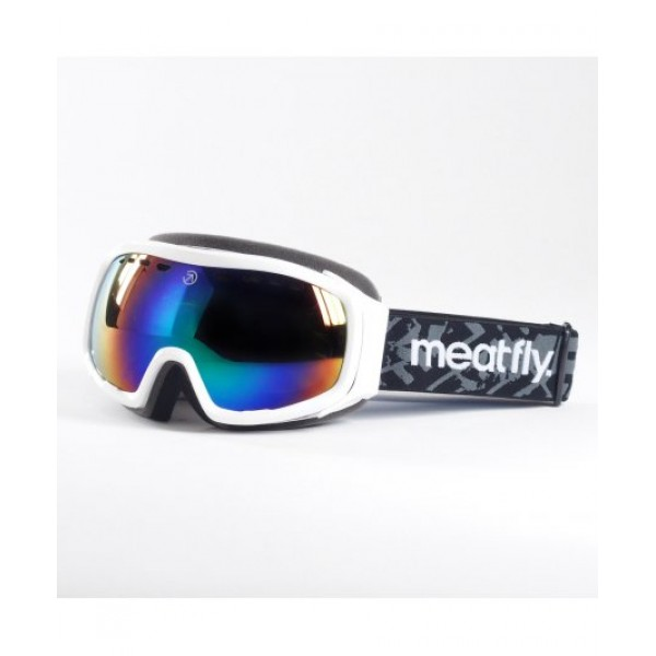 Snowboardové brýle Meatfly Aether 2 Goggles B -WHITE, GREEN CHROME
