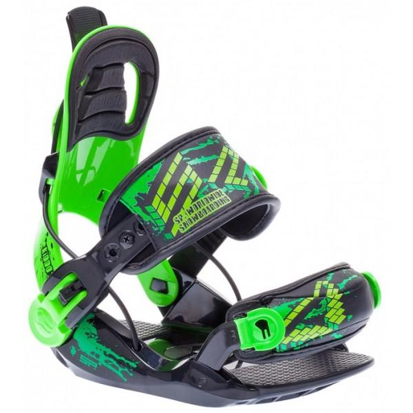 Snowboardové dětské vázání SP Kiddo black green
