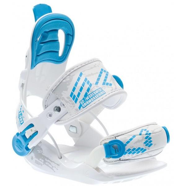Snowboardové dětské vázání SP Kiddo white blue