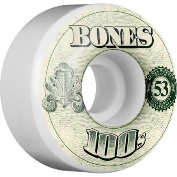 Kolečka Bones 100's 53mm OG Formula 53x34 V4 Skateboard Wheel 100a 4pk White
