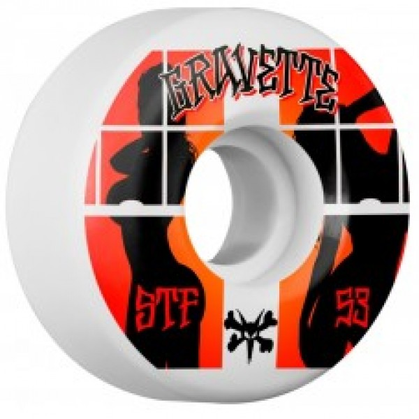 Kolečka Bones 103A 53mm STF Pro Gravette Peeps Skateboard Wheel V2 4pk