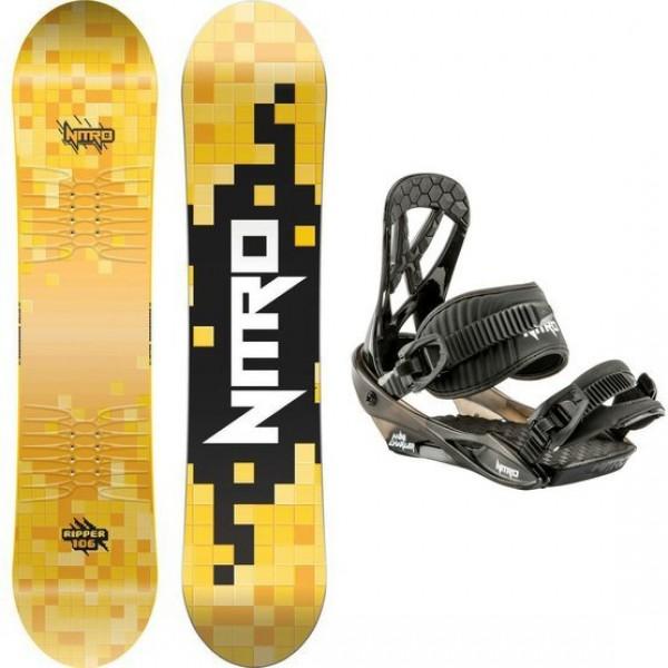 Snowboard NITRO RIPPER KIDS 126 + vázání CHARGER MINI black