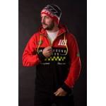 Mikina 101 Underground Riders LEGEND Zip Hood red-black